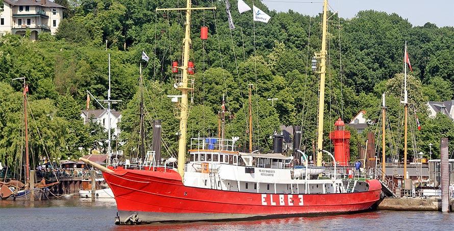 Das Feuerschiff Elbe in Hamburg