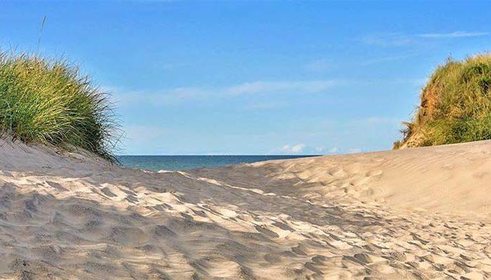 Die Sanddünen an der Nordsee